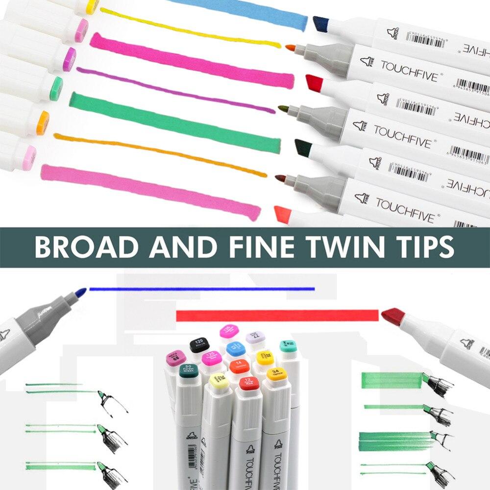 Animation Design graphique cartographie Art marqueurs Touchfive 30/40/60/80/168 couleurs stylo marqueur Set croquis dessin marqueur Art stylos - 3
