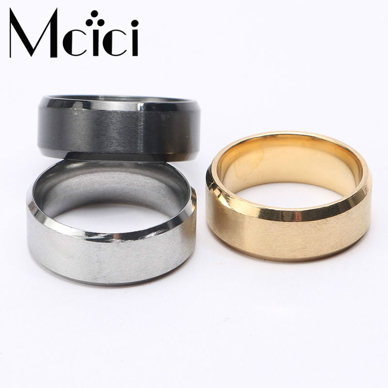 6mm Wide Ring Men Charming High Quality 3 Colors B...