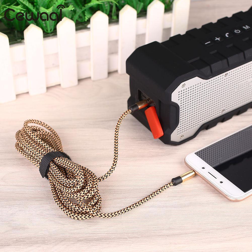 3.0m Audio Cable Lead 3.5mm Plug Socket Stereo Earphone Car Speaker Computer