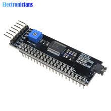 Mcp23017 5 v expansor 1602/2004/12864 módulo de driver lcd i2c iic adaptador de interface serial ajuste de contraste para arduino