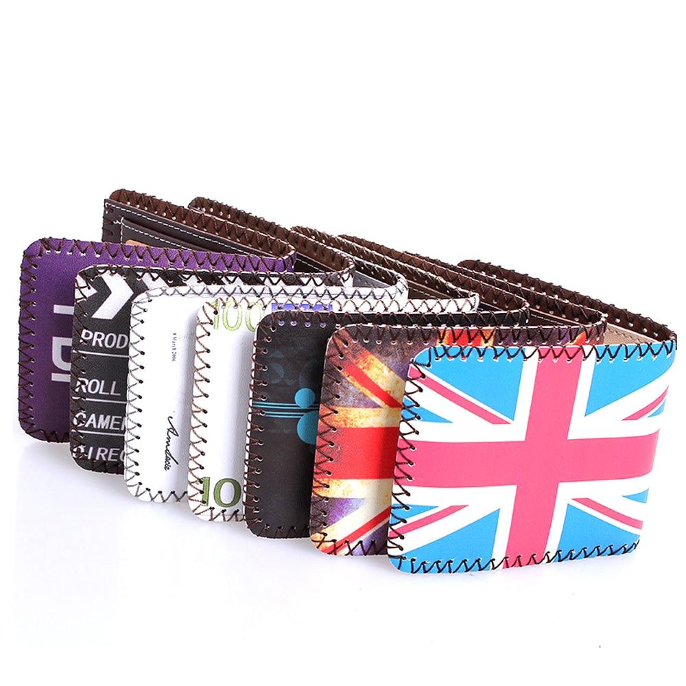 2017 Hot Sales Creative USA UK flag Design Short Style Men Wallet Fashion Woman Wallet Cartoon Coin Bag Change Purse Carteira