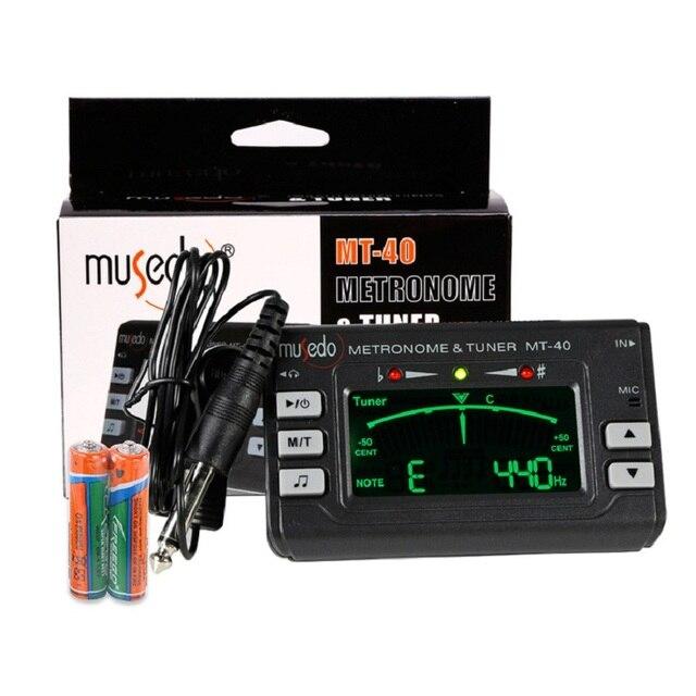 Musedo MT-40 MT-30 MT-60 MT-80 גנרטור טון טיונר גיטרה הגיטרה מטרונום LCD דיוק מקצועי