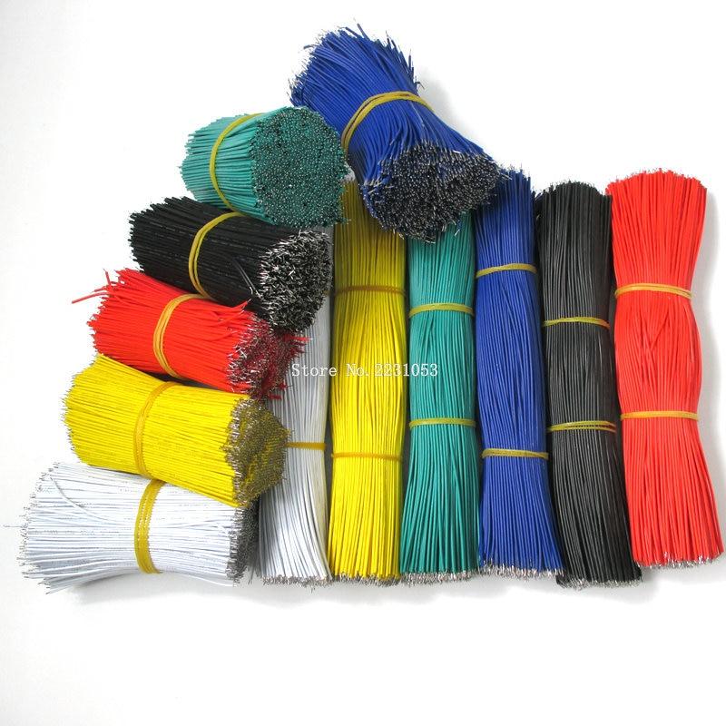 100 шт./лот Оловянная макетная плата кабель для пайки ПП 24AWG 8 см Fly Перемычка провода кабель Олово проводящие провода 1007-24AWG разъем провода