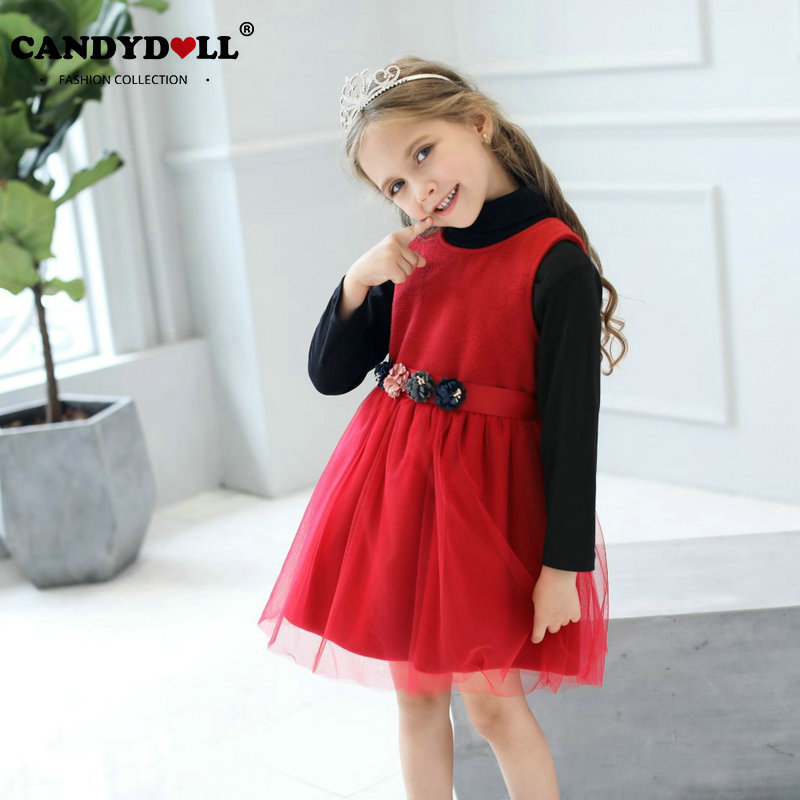 Flowermodels Candy Dolls Illusion: Candydoll Children Girls Solid Color Sleeveless Woolen