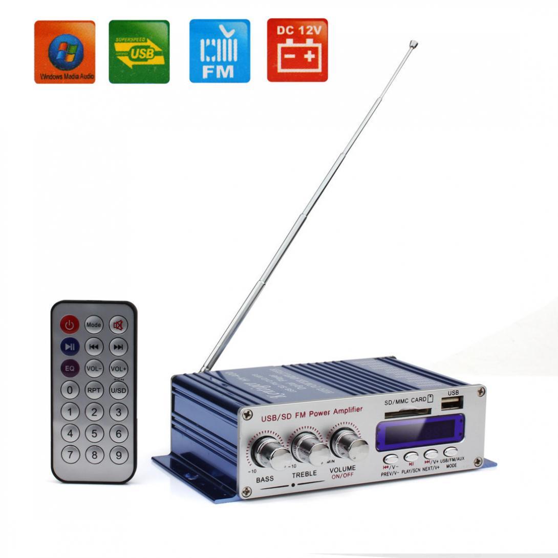Kentiger HY-400 12 V Digital Display Auto Auto Power Verstärker FM Radio Player Unterstützung USB SD Karte Eingang mit Fernbedienung control