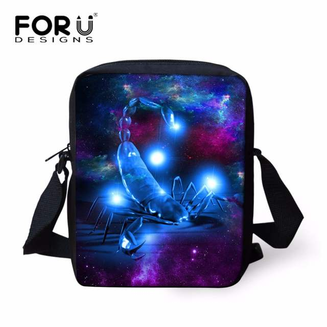 c93f029e97 Online Shop FORUDESIGNS Artist Scorpion Messenger Bag for Kids Girls Funny  Goat Wolf Owl Shoulder Handbag Mini Women Crossbody Bags