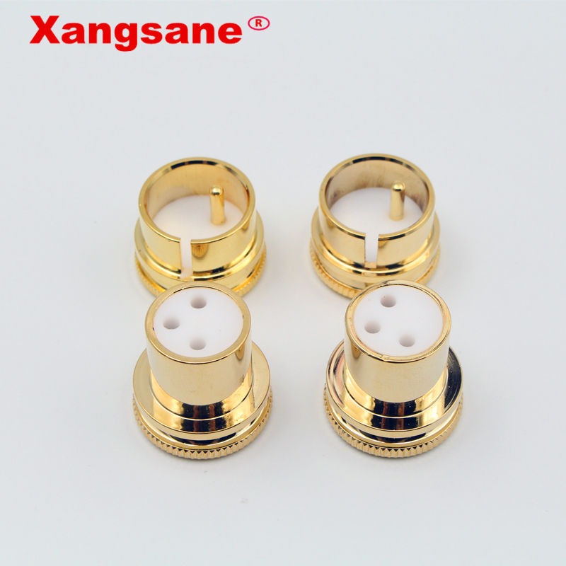 2pcs Protective Cover  Dust Cap Shielded Anti-oxidation For  Noise Stopper Gold Plated Copper XLR Plug Caps XLR Protect Cap