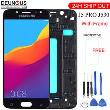 Nowy J530 LCD do samsunga Galaxy J5 Pro 2017 J530F SM-J530F wyświetlacz LCD ekran dotykowy Digitizer do samsung j5 pro z ramką tanie tanio Pojemnościowy ekran Galaxy s 1920x1080 3 For Samsung J5 PRO 2017 LCD i ekran dotykowy Digitizer