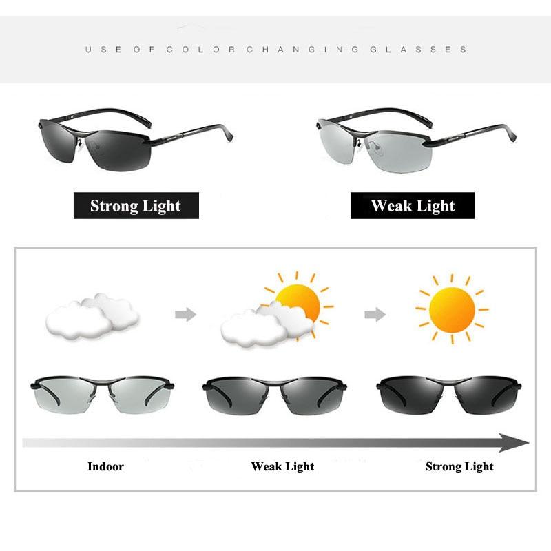 Gafas de sol polarizadas fotocromáticas AORON Hombres Decoloración - Accesorios para la ropa - foto 2