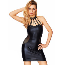 MILLYN Sexy Lingeries Fashion Women PU Leather Zipper Camisole Lingerie Slim Nightclub Costume Erotic Underwear Plus Size