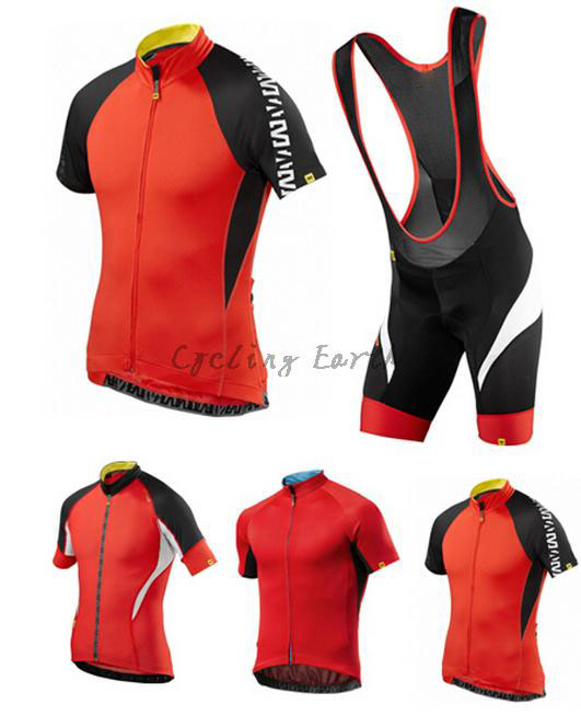 New mavic 2015 short sleeve cycling jersey bib shorts set bicycle wear sportwear clothes bike clothing