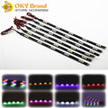 OKY DIY 5050 15SMD 30cm Short Led Flexible Strip Red White Blue Yellow Motorcycle Auto Car Decorative light IP65 DRL Tail Light