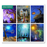New Style Full Square Diamond Painting Unfinished Drill 5D Halloween Landscape Whole Picture Drill Diamond Embroidery