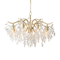 Modern American Classic Crystal chandelier lights for Living Room/bedroom gold suspended led chandelier kitchen lighting fixture