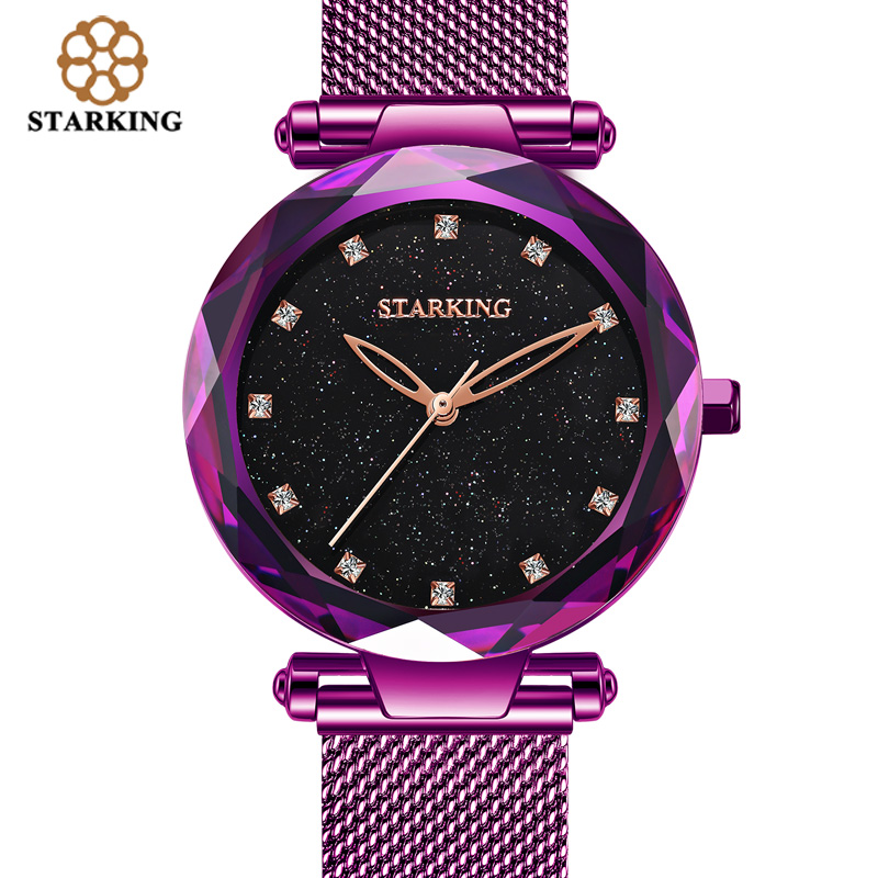 STARKING Watch Quartz Shinny Women Bracelet Watch 30m Water Resistant Female Clock Ladies Valentine Gift Relogio Feminino TL0918