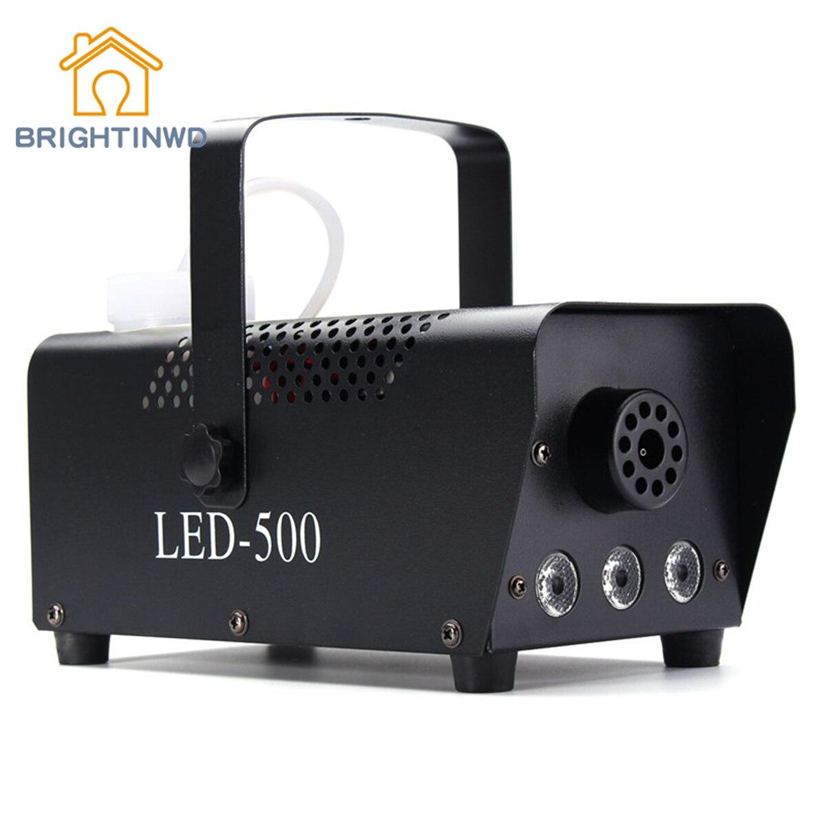 BRIGHTINWD Effect For DJ Disco Party Club Fogger with Remote 110V-230V RGB LED Wireless Smoke Fog Machine 500W Stage Lighting