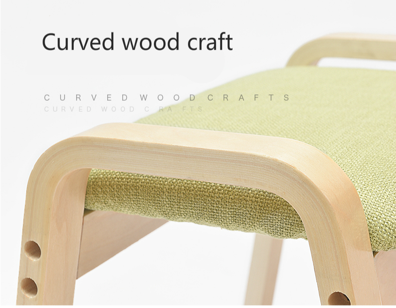 Admirable Us 134 11 25 Off Household Change Shoe Bench Leisure Sofa Stool Wooden Cloth Seat Multifunction Low Stool Solid Wood Washable Non Slip Stool In Andrewgaddart Wooden Chair Designs For Living Room Andrewgaddartcom