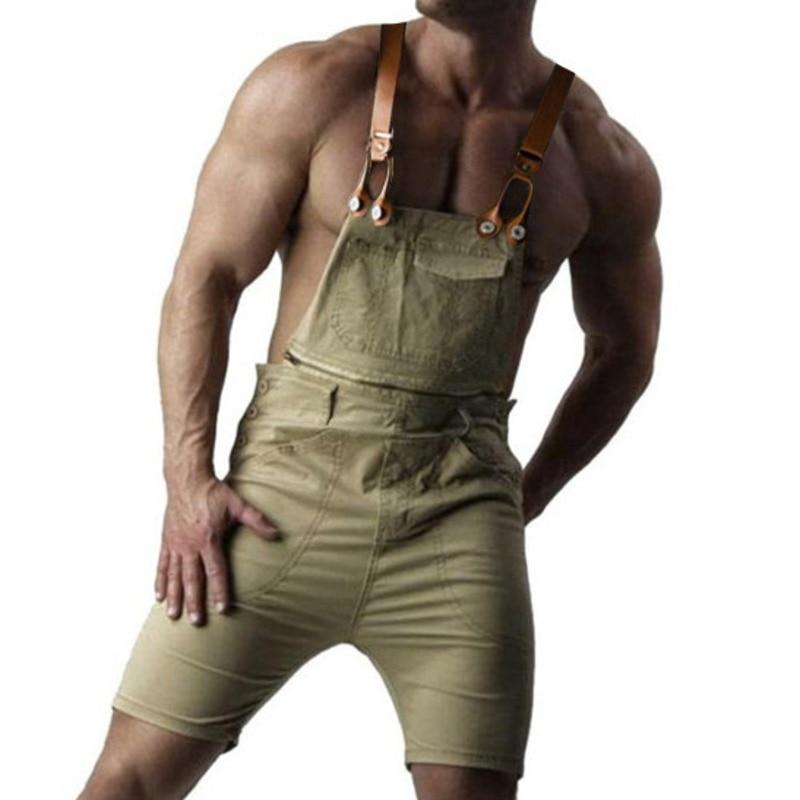 Dedicated 2018 Mens Casual Retro Denim Bib Overall Shorts Jarretel Broek Zomer Herfst Jeans Jumpsuit Voor Homoseksuele Mannen Rompertjes Plus Size 5xl Reputatie Eerst