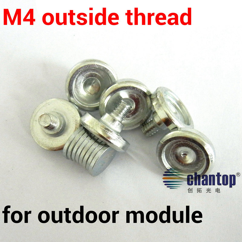 M4 Outside thread Magnet screw for p10 outdoor led screen display module Panel magnetic column Cylinder