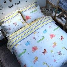cotton 100% animals bedding set,duvet cover/bed sheet/bedding pillowcase,3/4pcs duvet cover set,queen twin full size bed linens