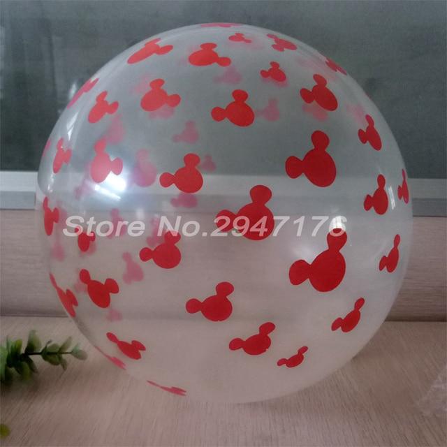 Balon 2018 decoracion 12 pouces transparent Mickey printting fªte d
