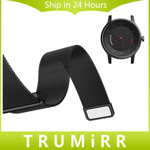 20mm Milanese Loop Strap for Garmin Vivomove Smart Watch Band Stainless Steel Magnetic Closure Bracelet with Quick Release Pins