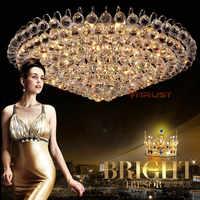 Top K9 kryształowe led sufitowe oprawa oświetleniowa do domu nowoczesna oprawa oświetleniowa s do sypialni oświetlenie wewnętrzne Lustre De Cristal