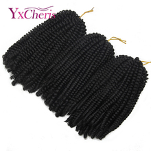 Curly Crochet hair Braid synthetic Ombre Braiding H