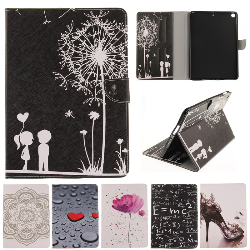 For Apple Ipad 9.7 inch 2017 A1822 A1823 Cute Cartoon Lover Flower Stand Flip Leather Case For IPad 2017 9.7 Tablet Cover Cases что на 10 копеек 1823 года цена