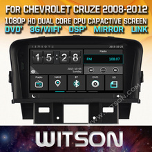 WITSON CAR DVD GPS for CHEVROLET CRUZE with New Technology Capctive Screen+1080P+DSP+WiFi+3G+DVR+Good Price+Free shipping