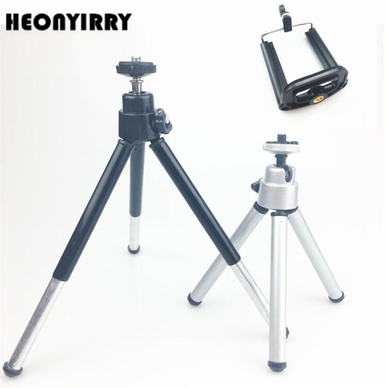 Flexible Lightweight Mini Tripod Aluminum Metal Tripods Stand Mount for Phone with Phone Clip Tripods for Xiaomi iPhone 5s/6/6s7 ...