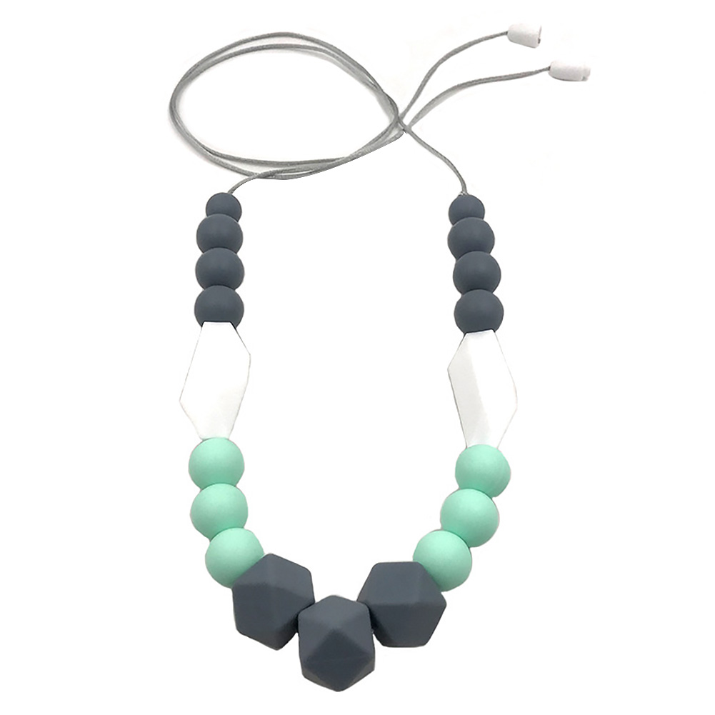 Women Silicone For Mom Teething Necklace Baby Pendant Beads Jewelry Accessories All-match Handmade Neck Decoration Year-End Bargain Sale