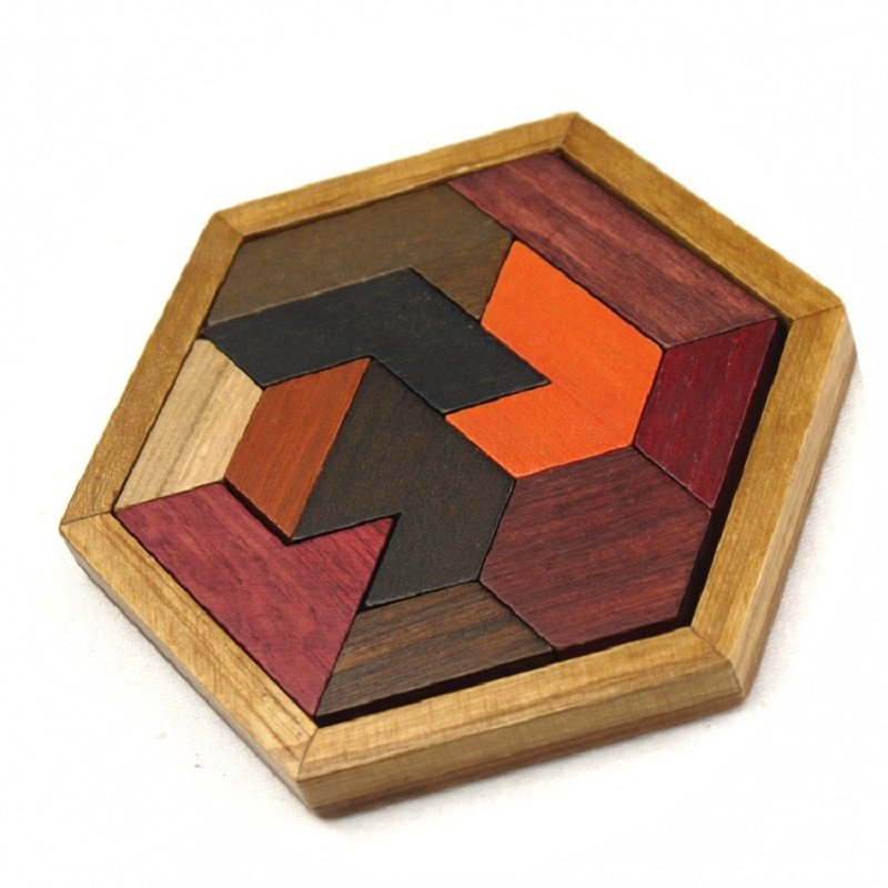 Kids Tangram Jigsaw Board Geometric Abnormity Shape Puzzle