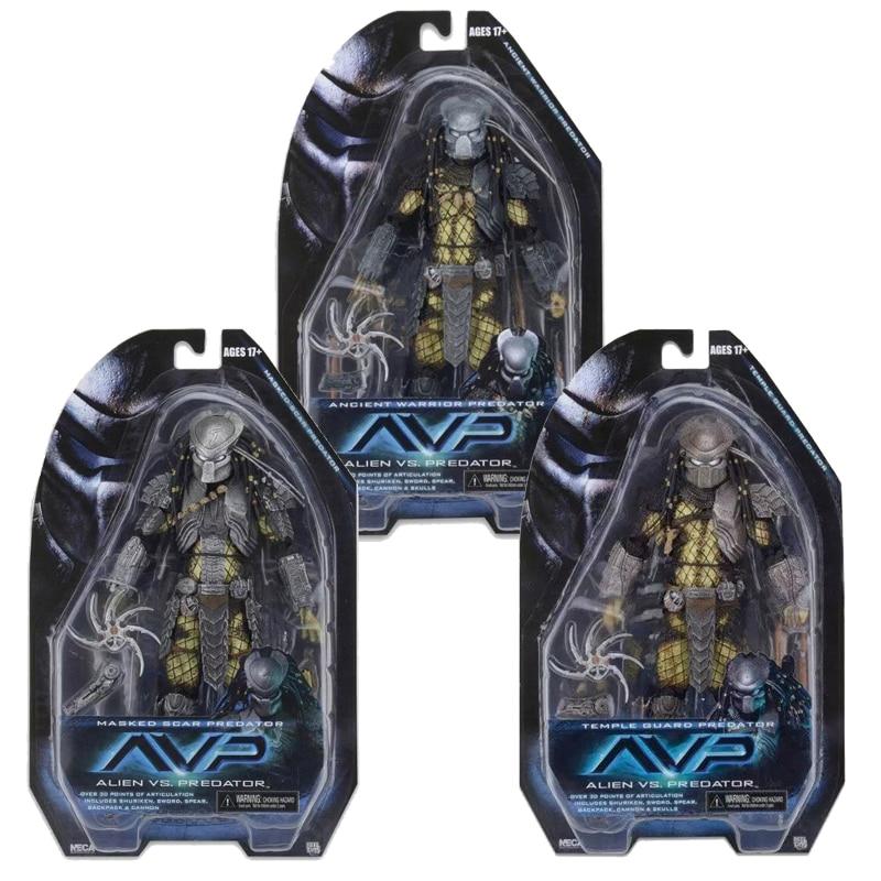 Movie AVP Aliens vs Predator Ancient Warrior Masked Scar Temple Guard Predator Action Figure Collectable Model Toy Doll