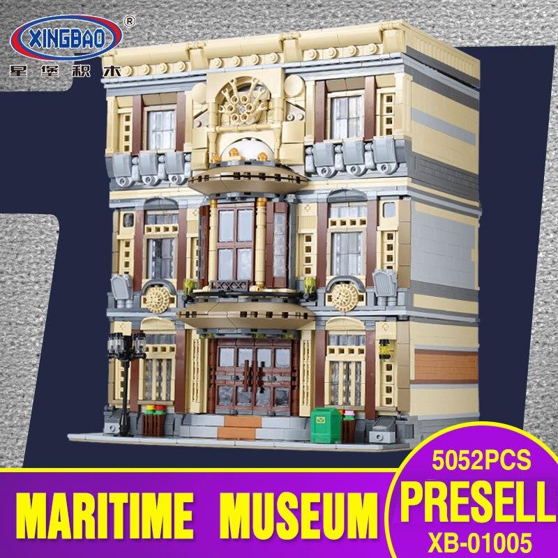 Новый XingBao 01005 блок 5052 шт. Подлинная Творческий город МОС серии морской музей набор строительных блоков Кирпичи игрушечные модели, подарки