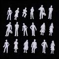100 Шт./компл. Белый Человек Модель Поезда Железной Дороги Пейзаж 1:100 Модель Песок Стол Людей