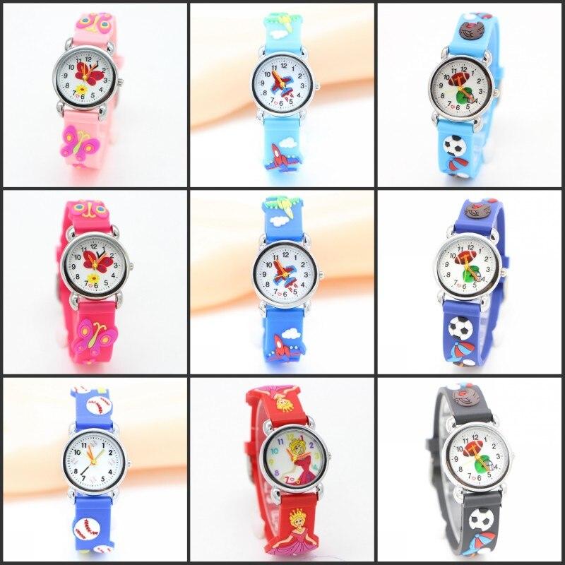Environmental protection Children Watch Kids 3D Cartoon desgin Wristwatch rubber football Watches Boy Girls Relojes kol saati