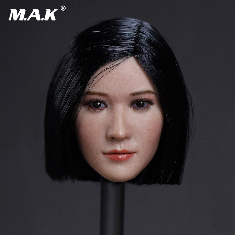 1:6 Scale Short Straight Hair Star Head Sculpt Model for 12 inches Female Action Figure Body dainese action short 11 12