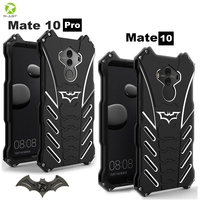 R-Chỉ Cần Batman Thiết Kế Kim Loại Hợp Kim Nhôm Bumper Armor Hard Case Đối Với Huawei Mate 10/Bạn Đời 10 Pro Bìa Điện Thoại Chân Đế V
