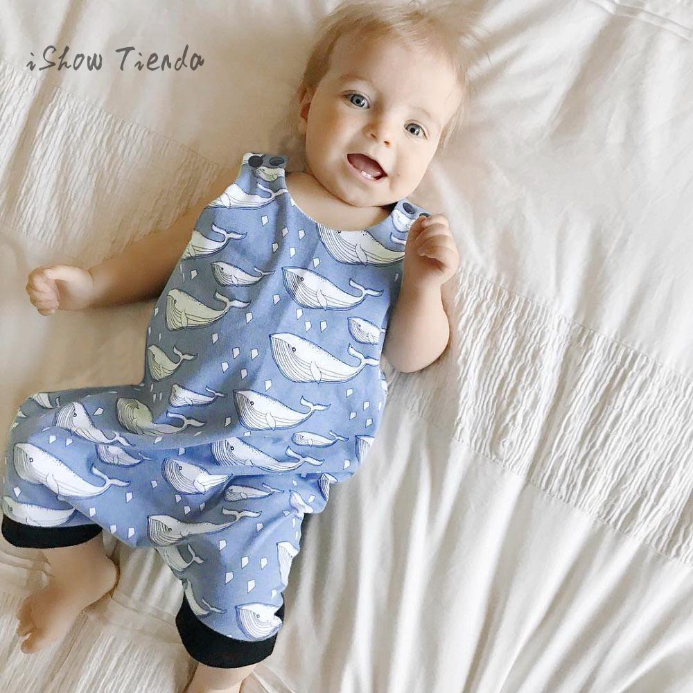 ISHOWTIENDA baby boy costume Sleeveless Print Jumpsuit baby boy romper Pajamas boys sliders newborn boy baby onesie barboteuse