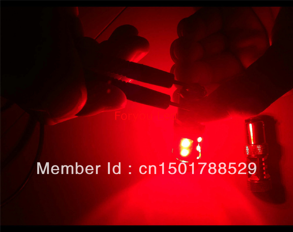 2ks Super bright Auto led 1156 auto light 60w high power Ba15s P21w red car žárovky