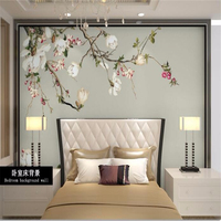 Custom 3d Photo Wall Paper High Quality Wallpaper 3d TV Background Covering Magnolia Flowers Wall Paper