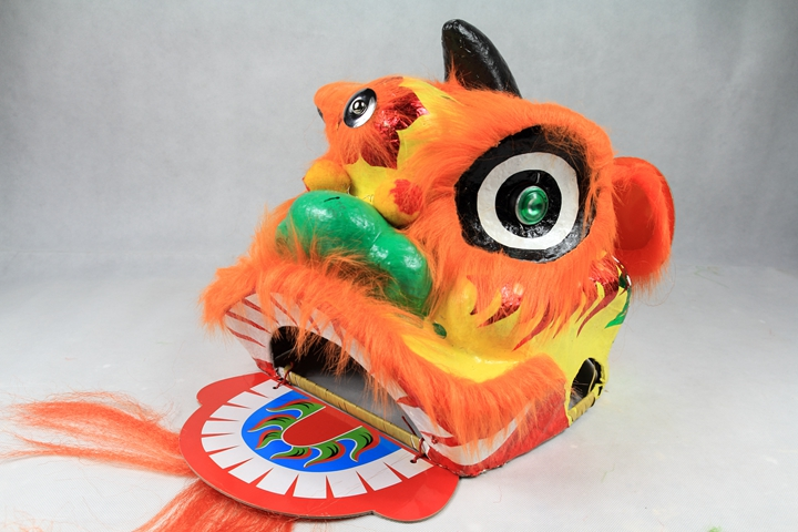 10.5inch orange chinese lion dance head without kids toys