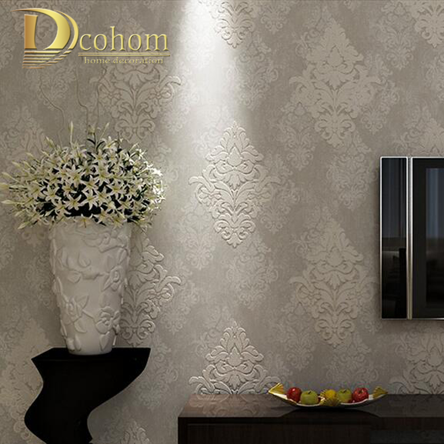 European Simple Vintage Luxury 3D Damask Wallpaper For Walls Bedroom Living Room Sofa TV Background Decor Home Wall Paper Rolls modern wallpaper for walls black white leaves pattern bedroom living room sofa tv home decor luxury european wall paper rolls