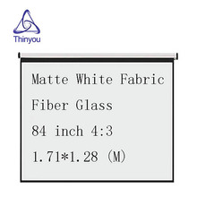Thinyou 84 inch 4:3 Matte White Fabric Fiber Glass Curtain Pull-Down Curtain hand pull projector screen LED DLP Beamer