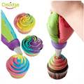 1 pcs 3 Holes Cake Decoration Converter Mix 3 Colors Icing Piping Nozzle Converter For Cupcake Nozzle Converter Connector