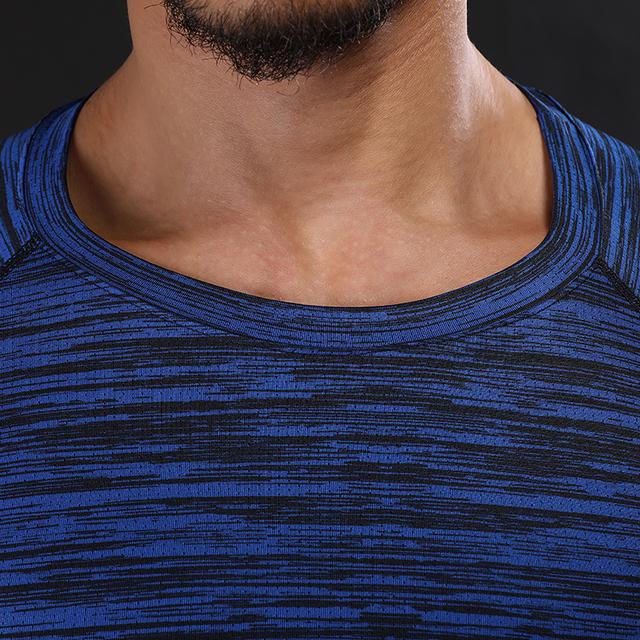 NANSHA Brand Clothing Men's Short Sleeve T-shirts  Compression Shirt Crossfit T-shirt Men Workout 3D Fitness Tights  Top