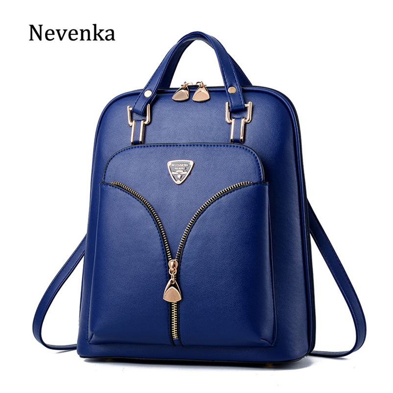 Nevenka Anti Theft Leather Backpack Women Mini Backpacks Female Travel Backpack for Girls School Backpacks Ladies Black Bag 2018-in Backpacks from Luggage & Bags