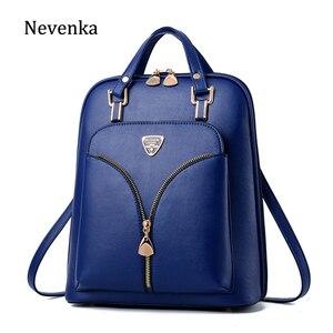Image 1 - Nevenka anti roubo de couro mochila feminina mini mochilas femininas mochila de viagem para meninas mochilas escolares senhoras saco preto 2018