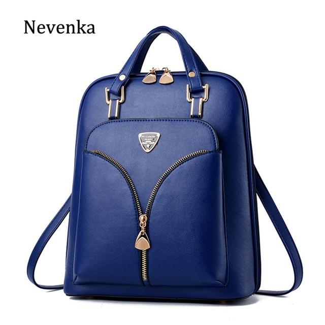 Nevenka anti roubo de couro mochila feminina mini mochilas femininas mochila de viagem para meninas mochilas escolares senhoras saco preto 2018
